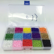 Efivs Arts 1000pcs Multicolor Beads Cube Charms for DIY Bracelets,Necklaces, Key Chains and Kid Jewellery Bead Box Kit,J002