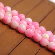 Natural Multi-Tones Pink Jade Beads Smooth Polished Round 6mm-12mm 15.4 Inch Full Strand for Jewellery Making (GJ27)