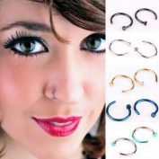 Akak Store Unisex 20 Pcs/Lot Assorted Nose Studs Rings,Stainless Steel Body Jewellery Piercing Nose Open Hoop Ring,Earring Piercing Studs,Body Slave Jewellery