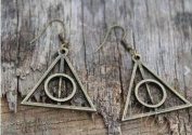 Great Brass Steam Punk,the Deathly Hallows Earrings Fashion