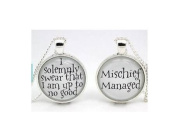 'Mischief Managed' & 'I Solemnly Swear' Pair of Necklaces