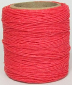 Maine Thread - .130cm Hot Pink Waxed Polycord. 60m each. Includes 2 spools.