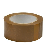 BOPP Brown Self Adhesive Tape, 65 Metre Length, 72 Mm Width, 40 Micron Thickness, 48 Rolls