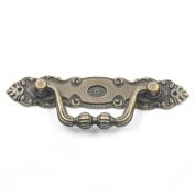 "Blumoona 5 Pcs - Antique Brass Jewellery Box Drawer Cabinet Cupboard Door Wine Handle Pull Knob W Screws 106mm(4.17"")x35mm"