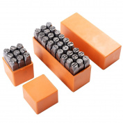 """FastOnlineDirect® 36 pcs 3/8"""" 10mm Letter and Number Steel Metal Stamping Stamper Punch Tool Kit New"""
