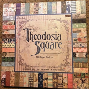 Theodosia Square 12x12 Scrapbooking Paper Pad, 180 Sheets, Vintage,Ephemera, French, Newsprint