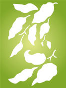 "Leaves Stencil - (size 4.5""w x 7.5""h) Reusable Wall Stencils for Painting - Best Quality Wall Art Décor Ideas - Use on Walls, Floors, Fabrics, Glass, Wood, Terracotta, and More…"