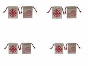 Spritz Burlap Holiday Gift Bag Petite 2 Pack