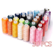 Candora Wholesale Sewing Thread Coil 30 Colour 250 Yards Each Polyester All Purpose