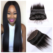 Derun Hair Best Quality 100% Remy Silky Straight 30cm ear to ear full Lace Frontal Closure Size 13*4 Natural Colour