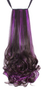 Diforbeauty 50cm Long Curly Two Tone Wrap & clip in Ponytail Hair Extensions 130g-140g