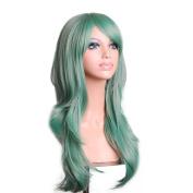 Rise World Wig New Fashion 70cm Long Curly Heat Resistant Big Wavy Cosplay Hair Wig