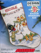 Design Works Crafts 5407 Counted Cross Stitch Snowman Christmas Stocking Kit