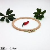 4.1 Inch Wooden Embroidery Hoop Cross Stitch Hoop Circle Craft - 10.5cm