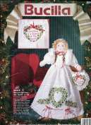 Bucilla Stamped Embroidery Kit ~ Nicole Christmas Doll