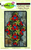 Weathered Copper Mosaic Runner Kit From WoolyLady 41cm x 70cm