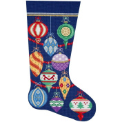 Alice Peterson Home Creations Holiday Edition Needlepoint Stocking Kit-- Elegant Ornaments