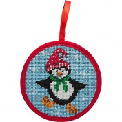Alice Peterson Stitch-Ups Dancing Penguin Needlepoint Ornament Kit