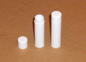 100 NEW Empty WHITE Lip Balm Chapstick Tubes Containers .15 oz / 5 ml Tubes & Caps WITH SHRINK BANDS DIY Make your Own