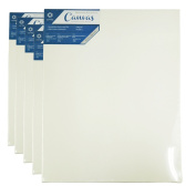 Conda & Kiddycolor canvas Professional Artist Acid Free Stretched canvas Pack of 5 (41cm x 20inch) Blue