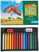 Camel Plastic Crayons - 15 Shades