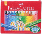Faber Castell Wax Crayons, 75 Mm - 12 Shades