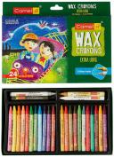 Camel Extra Long Wax Crayons - 24 Shades
