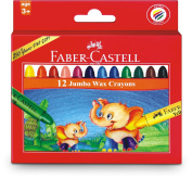 Faber Castell Jumbo Wax Crayons - Set Of 12
