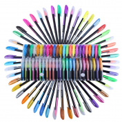 FUMUD Gel Pen Set,48 PCS,1.0mm, Metallic, Glitter, Neon, Pastel,Superior Quality Coloured Pen. Gel Ink Pen Flashlight pen highlighter pen School Office Children's Day gift