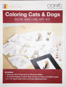 Copic Colouring Cats & Dogs Book and Line Art Kit
