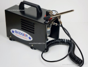 Compressor with airbrush set Badger TC-909 + Harder & Steenbeck ULTRA 2in1. by SprayGunner
