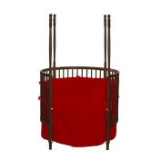 bkb Solid Colour Round Crib Bedding, Red