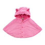 My Blankee Luxe Hooded Cape, Raspberry, 6-12 Months