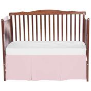 bkb Solid Tailored Mini Crib Skirt, Pink