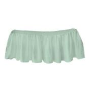 bkb Solid Ruffled Mini Crib Skirt, Mint Green