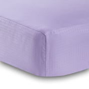 BreathableBaby Solid Fitted Crib Sheet, Lavender