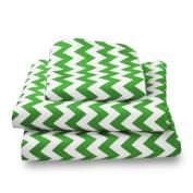 bkb Chevron Toddler Sheet Set, Green
