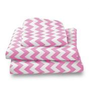 bkb Chevron Toddler Sheet Set, Pink
