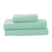 bkb Gingham Toddler Sheet Set, Green
