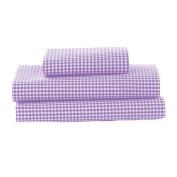 bkb Gingham Toddler Sheet Set, Lavender