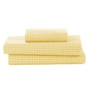 bkb Gingham Toddler Sheet Set, Yellow