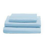 bkb Toddler Sheet Set, Light Blue