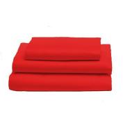 bkb Toddler Sheet Set, Red