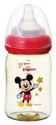 Pigeon Peristaltic PLUS PPSU Nursing Bottle BPA Free 160ml with nipple size SS / Mickey Mouse/ -Japan import