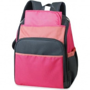 Tender Kisses Coral Colorblock Nappy Bag Backpack