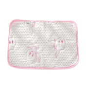 Fairy Baby 4-layer Washable Bamboo Baby Changing Nappy Pad Antiskid Pink,Packing of 1