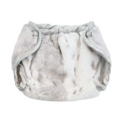 My Blankee Luxe Nappy Cover, Siberian Leopard/Silver/White, 0-3 Months
