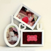 Picture Frame Plastic Tabletop Hanging White Love Picture Multi Photo Collage Frame For Wedding Gift Home Decor 1 Pcs