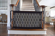 The Stair Barrier - Indoor-Outdoor Bannister-to-Bannister Baby/Pet Gate - Onyx, Wide