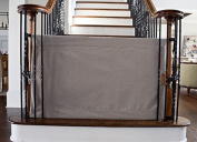 The Stair Barrier - Bannister-to-Bannister Baby/Pet Gate - Heather Grey, Wide